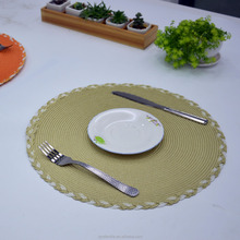 Handmade Woven Braided Round Paper Placemat for ALDI