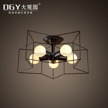 Italian pentagram shaped leisure bar modern led ceiling light