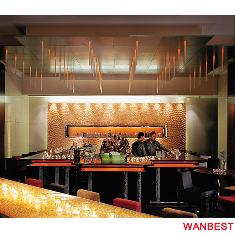 Commercial Marble Restaurant Cafe Wine Bar Circle Counter Design