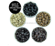 6mm SILICONE LINED micro rings/nano ring for hair extension