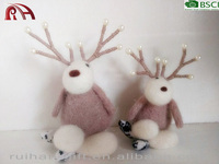 new pure wool felt home desk decor for christmas ornaments deer