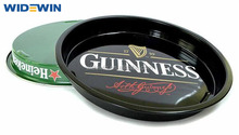 Tin serve tray/Bar round tray/metal plate