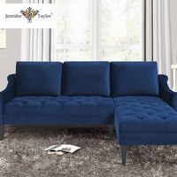 wholesale wooden home furniture designs velvet sectional sofa
