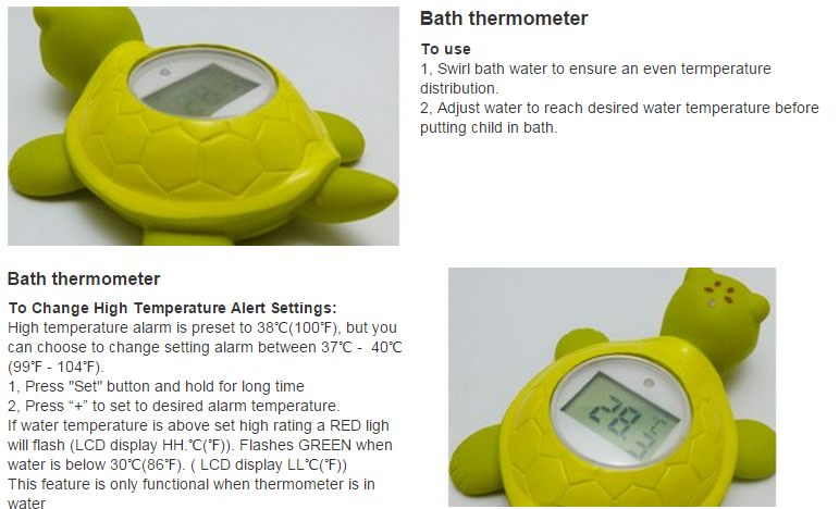 EN71 CE Waterproof Floating Digital Baby Bath Thermometer For Shower