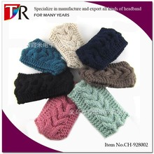 Fashion Woman Elastic Cable Knit <strong>Headband</strong>/Acrylic <strong>Headband</strong>