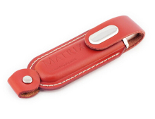 Long Leather Case Usb Flash Drive 500gb With Embossed Logo