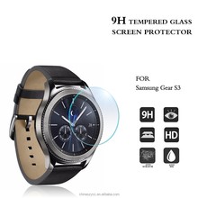 free sample !! 0.2mm 9H Hardness anti-radiation glass screen protector for Gear S3 / glass tempered screen protector