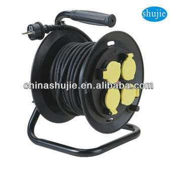 cable drum VDE plug German sockets Industrial cable reel france cable wheel