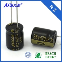 Super long life low voltage high ripple current low impedance 150uf 6.3v electrolytic capacitor for led lighting driver