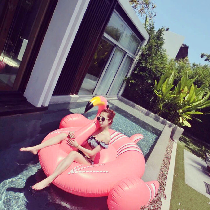 Giant Inflatable Pink Flamingo Float Adult Sized Pool Toy and Raft Animal Shaped Pool Floats
