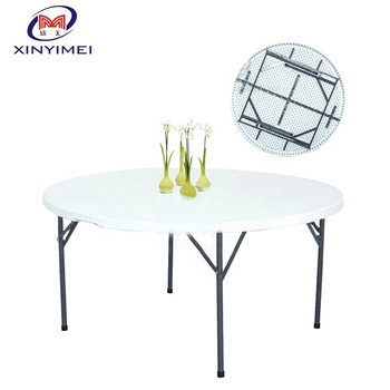 Commercial rental catering round plastic tables for sale