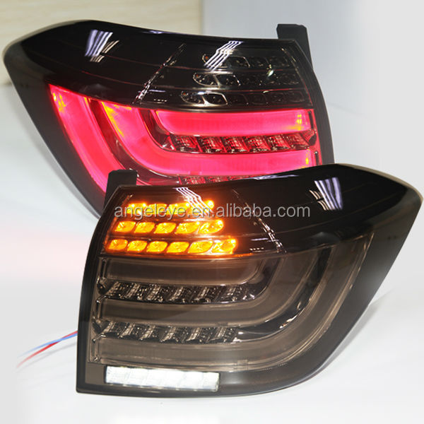 For 2012-2013 year TOYOTA Kluger Highlander Full LED Tail Lights BMW Style smoke black Color