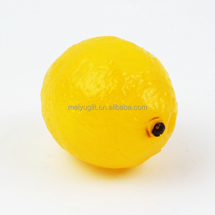 Imitation Lemons Decorative Plastic Artificial Fruit For Toy