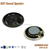30MM 1W 4 OHM high quality Micro Boom Box Speaker Parts