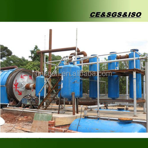 No pollution waste recycling machinery used tyre pyrolysis plant