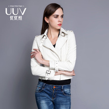 Lower Price Attractive Neoprene pu woman coat leather jacket