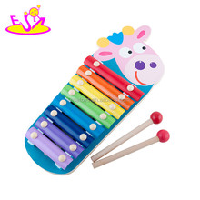 2016 best sale kids wooden hand xylophone, top popular children wooden hand xylophone W07C054