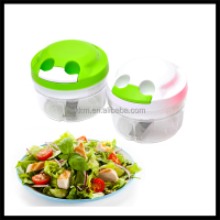 Multi-function Food Grade Plastic Salad Chopper, manual vegetable garlic onion chopper, Hachoir / Herb slasher cutter