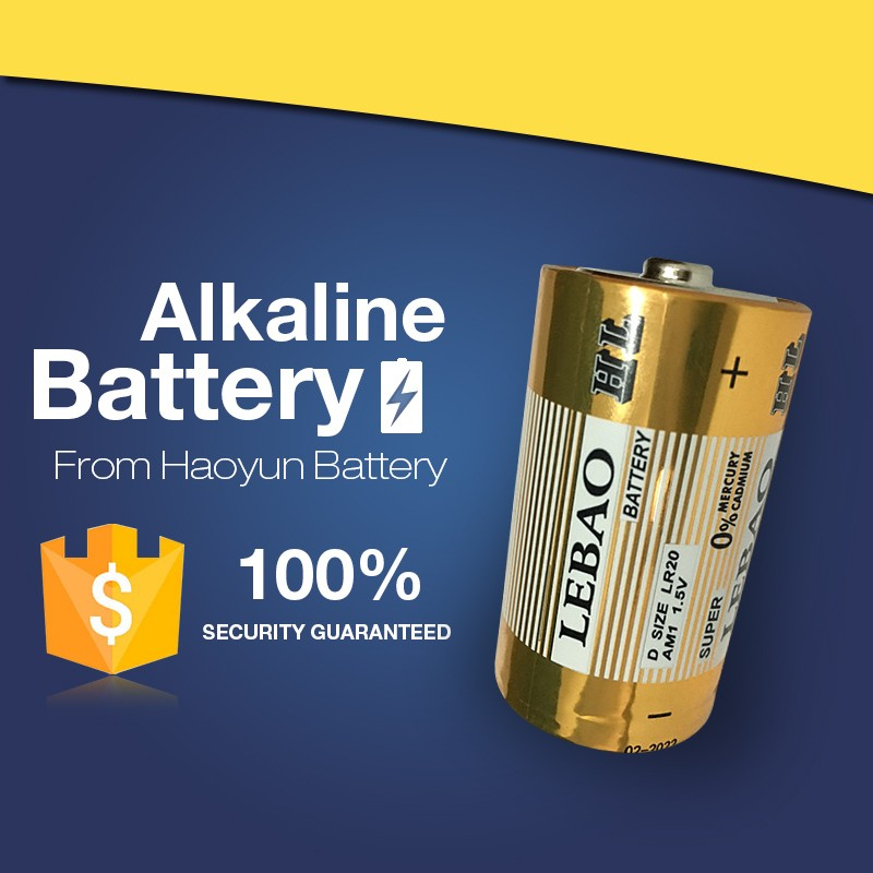 LeBao factory Suppliers OEM Pro-Envieonment LR20 AM1 Alkaline Battery 1.5V D Shrink 2