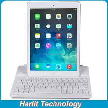 Customize Magnetic Aluminum Bluetooth Keyboard For iPad 4 With Socket Stand, Magnetic Bluetooth Keyboard For iPad 4