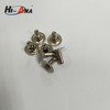 size 9x6mm metal rivet with double face and smooth style China supplier