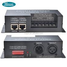 RGBW LED DMX512 Decoder 4 Channel Dmx Controller
