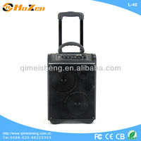 HOT-SALE trolley speaker with usb sd/party portable speaker with fm radio/Rechargeable battery portable speaker with subwoofer