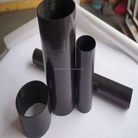 glossy surface twill round carbon fiber tube 8mm 12mm 13mm 15mm 19mm 23mm 25mm 30mm 50mm 70mm 100mm