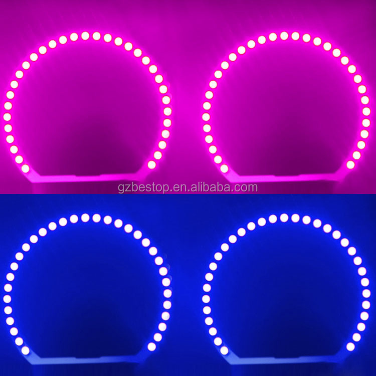 5050 SMD RGB angel eyes color changing halo rings 4*131mm E46 E36 E39 led angel eyes