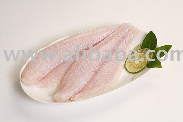 Pangasius fillet , light pink meat