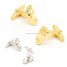 wholesale custom foot silver cufflink cufflink gold wedding cuff link