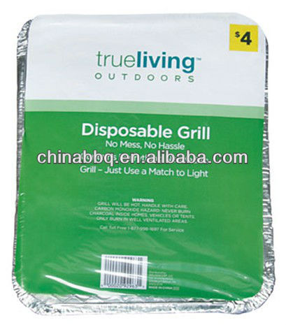 one time use bbq grill disposable grill Instant grill