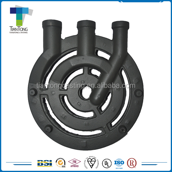 OEM service clay sand cast iron gas stove burner spare parts