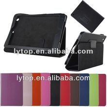 Plug-in stitching leather tablet case for aple ipad mini 2