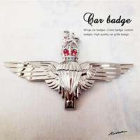 Crown&Lion Emblem,Zinc alloy metal 3D Bigwings Car Badge
