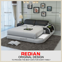 wholesale modern bedroom furniture full, queen king sizes synthetic leather bed