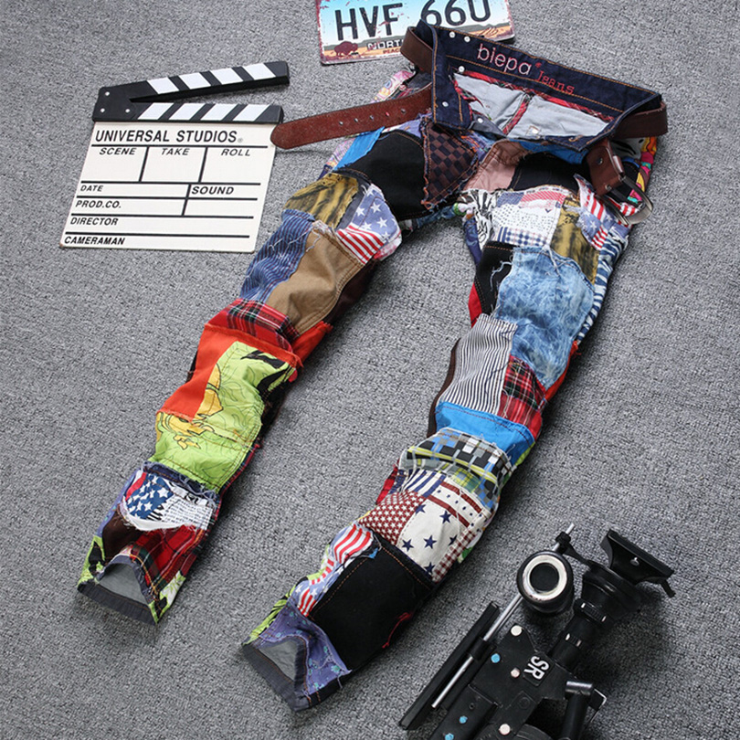 Colours Jeans Trousers For Young Men Pants 2016 New Fashion