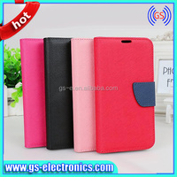 2014 Best Seller Pu Phone Cover New Leather Folding Wallet Case for s5 I9600