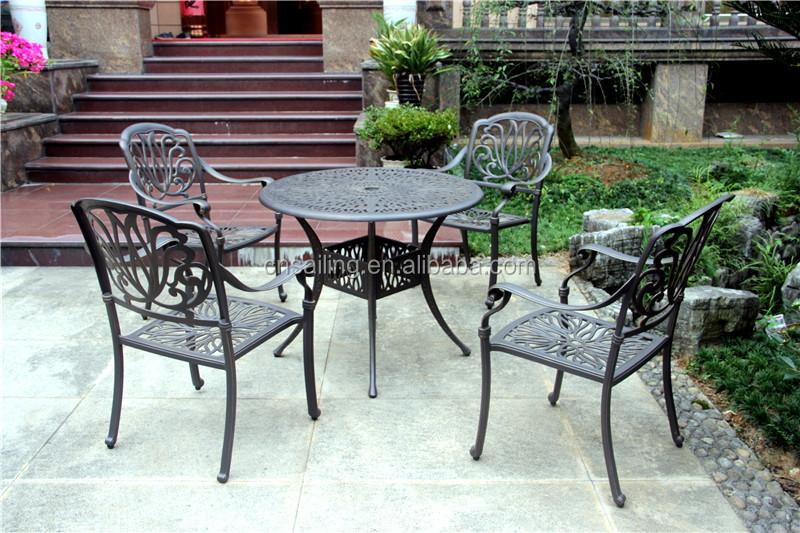 cast aluminum patio table and chairs cast aluminum patio
