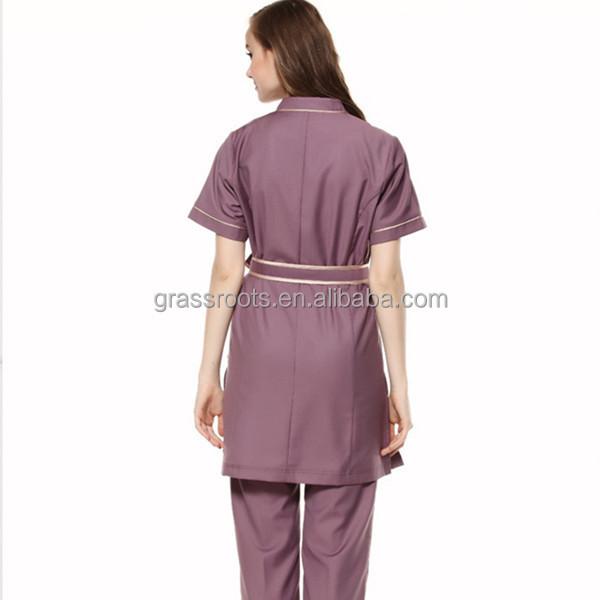 2015 100 cotton fashion design salon women spa beautician for Uniform design for spa