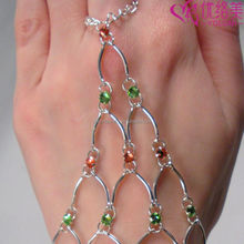 Finger Hand Chain Bracelets Bangle Chain More Colors Crysal Chain Maille Eternity Bracelet Crystal Harness Bracelets 1107M