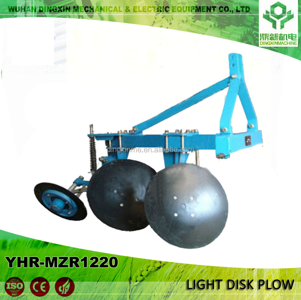 Agricultural land tillage tractor furrow one way disc plow