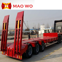 High Quality Transportation Truck and Tandem Axle Lowbed Semi Trailer