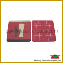 various types of absorbent paper cup coaster