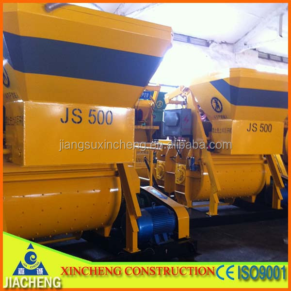 Jiangsu Jiacheng JS500 concrete mixer prices for sale from Jiangsu factory