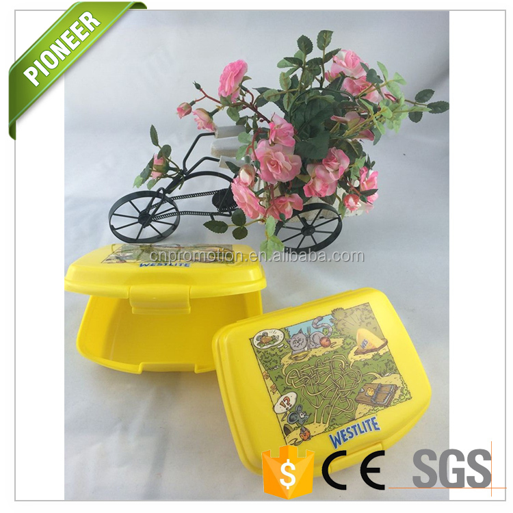 PP Plastic Portable Bento Lunch Box Containers with lock