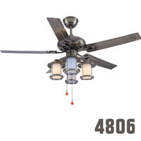 Easy Buy Contemporary Vintage 5 Blades 4 Light Ceiling Fan