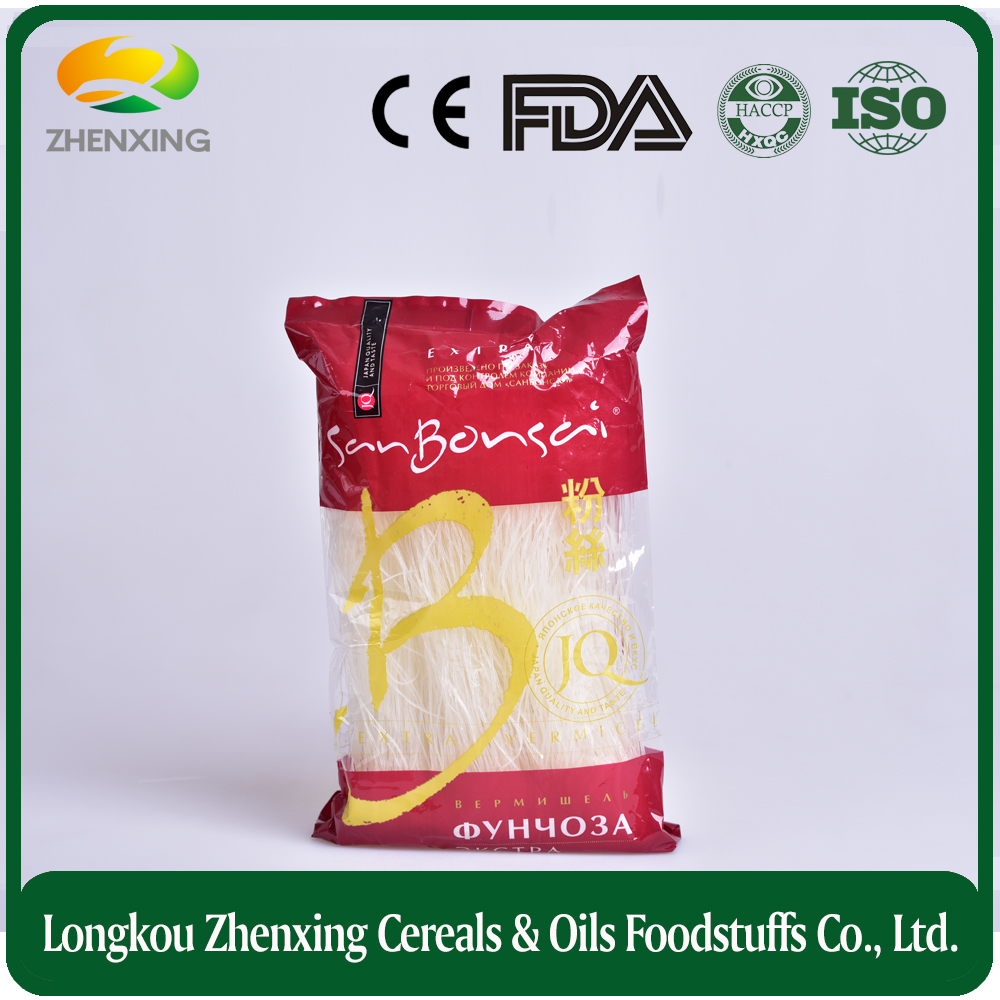 Pasta producers supply organic mung bean spaghetti noodle