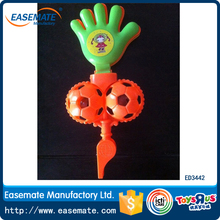 Plastic hand cheering clap toys with double football design