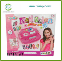 Kids beauty toy with diy nail art toy nail salon toy